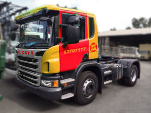 CST Scania 440-2 3rd Party Logistics Warehousing Supply Chain distribution transportation container haulage