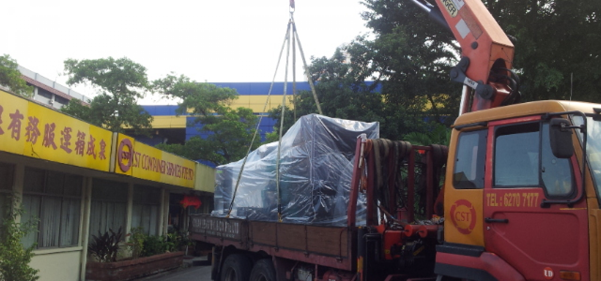 Lorry Crane Lifting Machineries Logistics