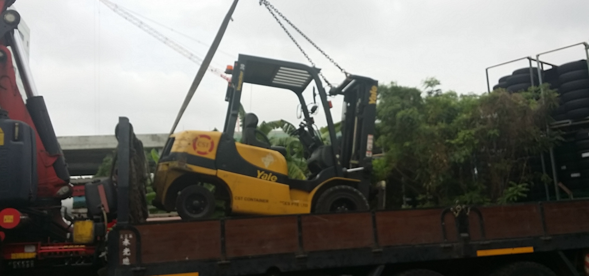 Lorry Crane Lifting Forklift Logistics Transportation