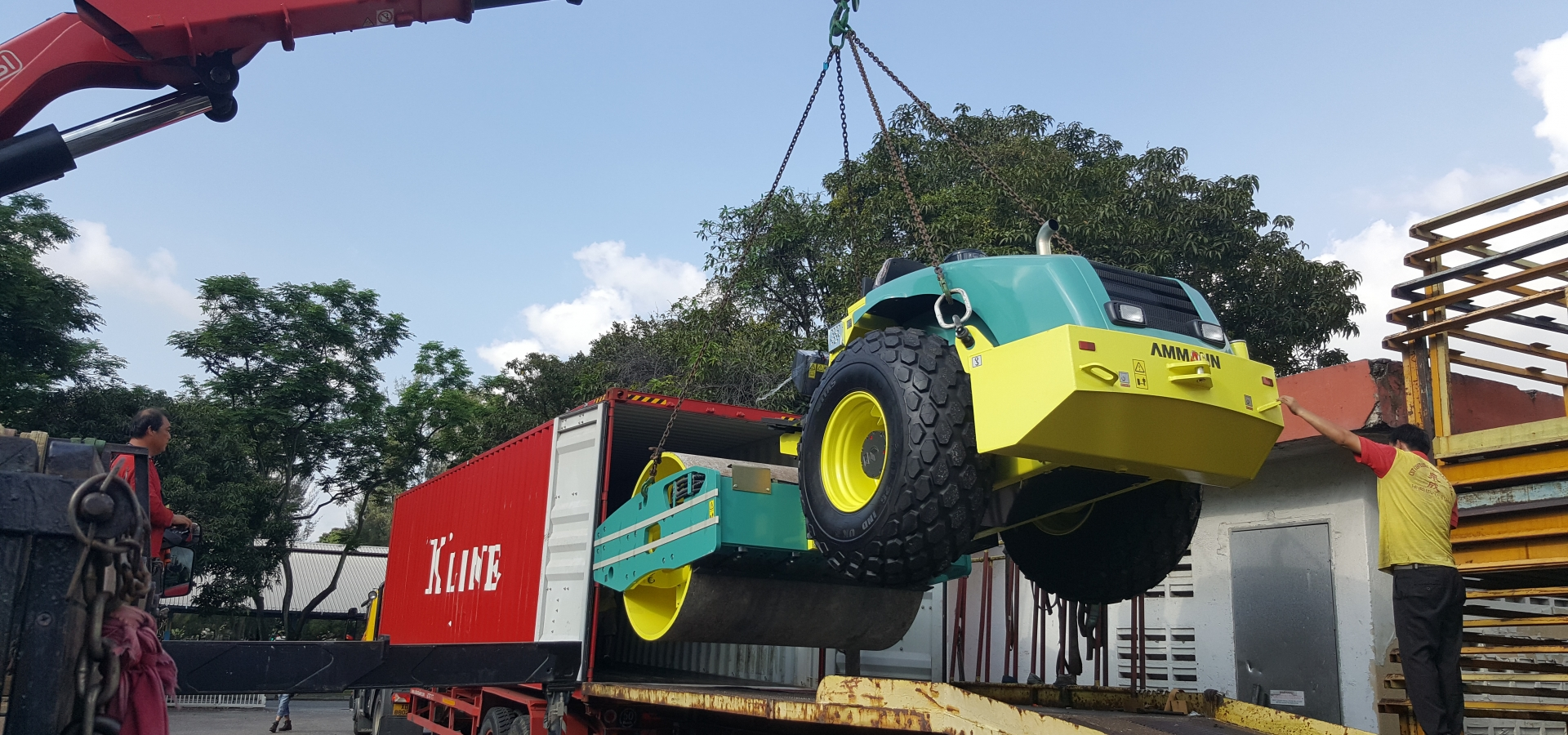 Lorry Crane Lifting Forklift Logistics Transportation Construction