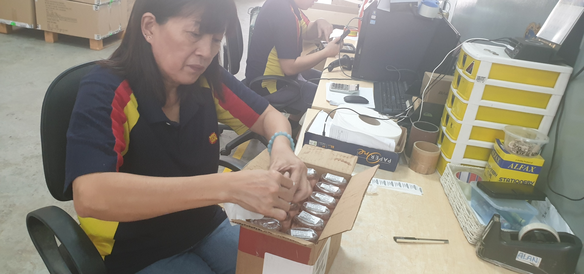 Barcoding, Pasting Labels, Value Added Services, VAS
